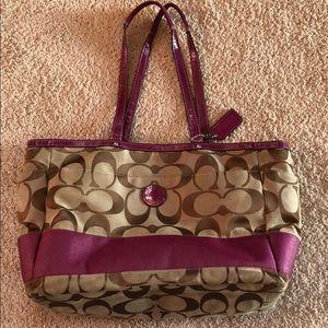 Coach diaper pink bag